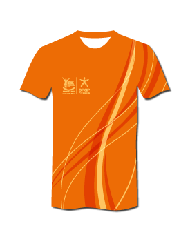 2020 #RunLimassol Pro Technical T-Shirt - Sunset Orange